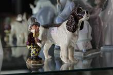 Beswick Dog & Mad Hatter Figures