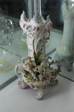 Saxony Amphora Art Nouveau Shaped Vase