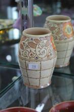 Charlotte Rhead Bursley Ware Trellis Pattern Tubelined Vase