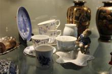 Royal Copenhagen Figure of a Boy with Other Copenhagen Wares