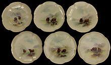 Royal Worcester Harry Stinton Highland Cattle Desert Plates