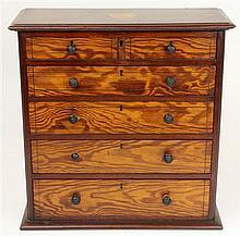 Victorian Baltic Pine Apprentice Chest Jewellery Box