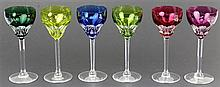 Harlequin Crystal Set of Six Crystal Glasses