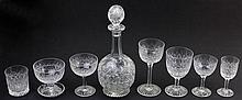 Webb Corbett Crystal Stem Ware Suite for Eight Persons