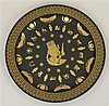 Wedgwood Egyptian Collection Black Bassalt Ware Plate 'Ankhesenamun'