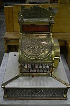 Vintage National Cash Register complete with Marble Surround and Amount Purchased Plaque