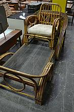 Cane Day Bed w Chair