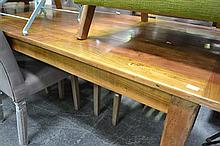 Honey Coloured Recycled Elm Dining Table (220x90cm)
