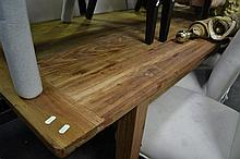 Natural Recycled Elm Dining Table (220x90cm)