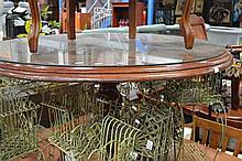 Mahogany Round Single Pedestal Dining table
