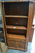 Open Bookcase with Drawers Below