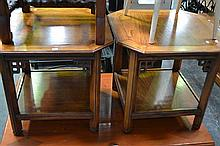 Pair of Timber Occasional Tables