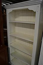 White Painted Open Bookcase