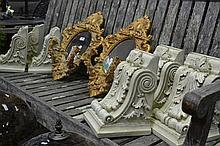 Set of 6 Wall Sconces & Pair of Mirrored Candle Wall Sconces