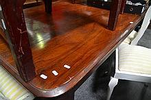 Victorian Cedar Dining Table On Turned Legs