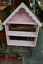Pink House Form Bookcase
