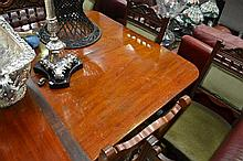 Early To Mid 19th Century Mahogany Extension Dining Table On six Legs with 2 Leaves AF