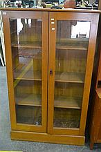 Bookcase w 2 Glass Doors