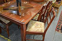 Timber Dining Table w 6 Chairs