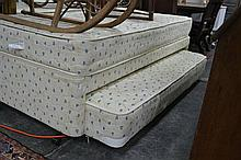 Single Bed and Mattress with Trundle Converts King Size Bed