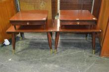 Pair Retro Laminate Sofa or Bedside Tables