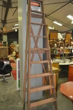 Large Timber A-Frame Ladder