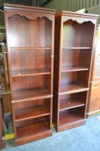 Pair of Slim Open Bookcases (061501,no#)