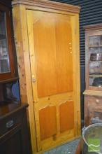 Antique Pine Corner Cabinet, with later additions