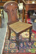 Two Mid 19th Century Mahogany Hall Chairs