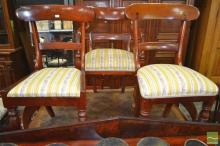 Set of Seven Late 19th Century Cedar Chairs, including single carver