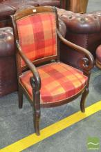 Antique Mahogany Chair, with scrolled arms
