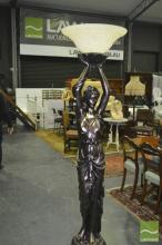 Lady Figural Form Stand Up Lamp