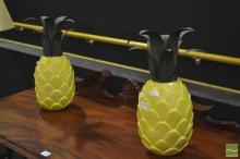 Pair of Ceramic Pineapples