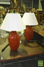 Pair of Large Ceramic Table Lamps