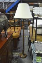 Turned Timber Standard Lamp