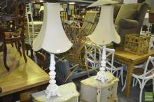 Pair of Ornate Metal Table Lamps