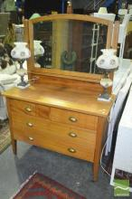 Maple Mirrored Back Dresser