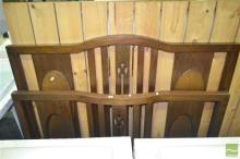 Maple Double Bed (bolts missing)