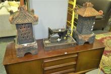 Pair of Terracotta  Lanterns