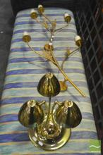 Brass Table Lamp and Wall Mount
