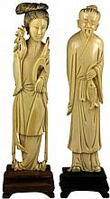 Republic Export Pair of Ivory Figures