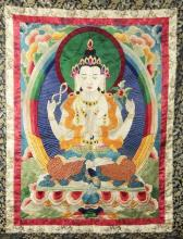 Tibetan Embroidery Thangka