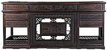 Chinese Zitan Demountable Five Part Scholars Desk