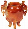 Chinese Agate Pierced Censer