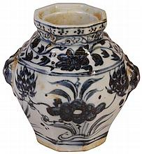 Chinese Blue & White Guan Jar