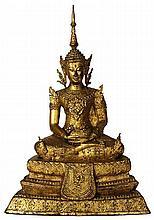 Bronze Gilded Buddha Figure