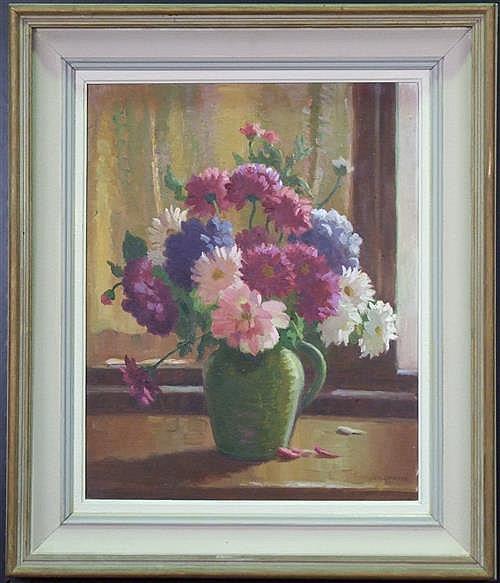 Erik Langker (1898 -1982) - Floral Still Life 44 x 35.5cm