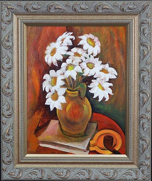 George Bell (1878 - 1966) - Still Life White Flowers 47 x 36cm