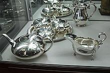 Silver Plated 4 Piece Tea Set & Other Wares
