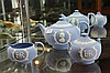 Wedgwood Jasper Ware QEII Coronation 3 Piece Tea Set